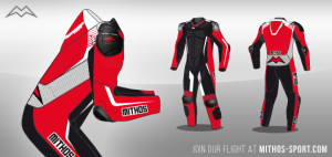 Mithos Sport Motorrad Lederkombi
