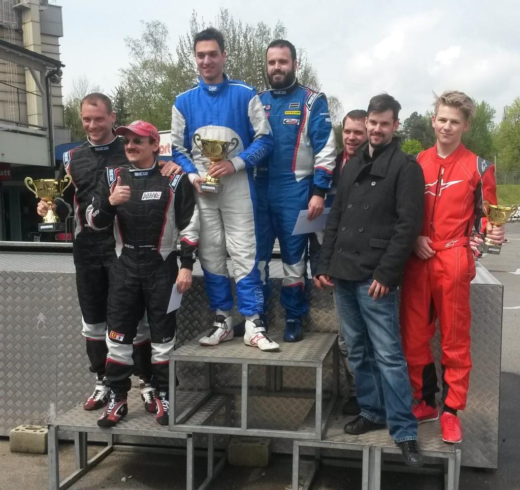 Siegerpodest Turbokart Rennen Wohlen 24.04.16