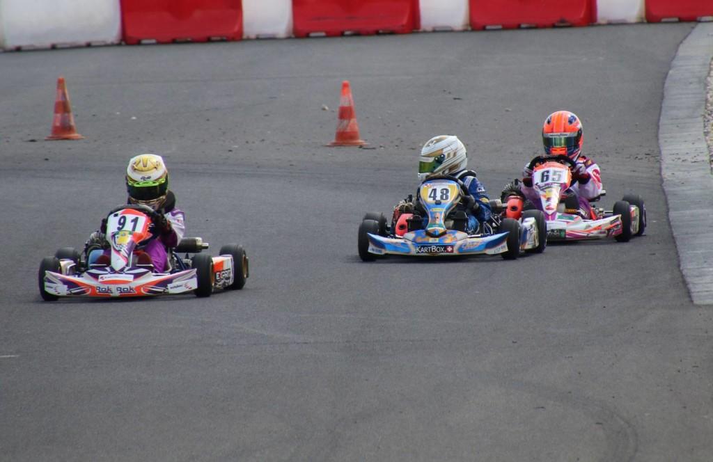 Schweizer Kartmeisterschaft Lignieres - Pirmin Zimmerli, Elia Sperandio, Alessio Fagone