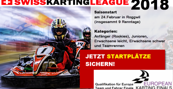 Saisonstart Kartrennen Meisterschaft Swiss Karting League 2018