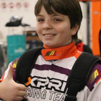Dario Sebastiano beim Kartrennen GP Oberaargau