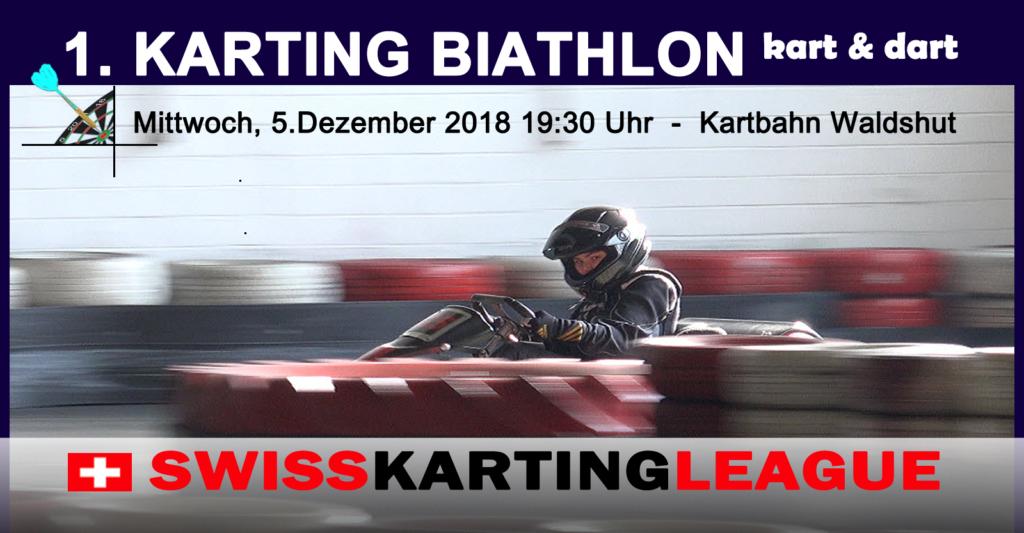 Karting Biathlon 2018 - Kartrennen und Dart spielen