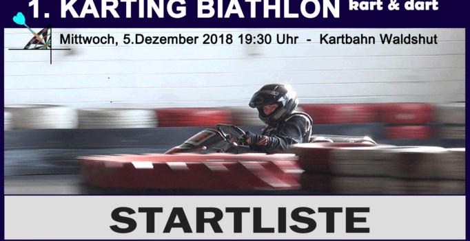 Startliste 1.Karting Biathlon Waldshut